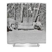 Lonely In Winter Shower Curtain