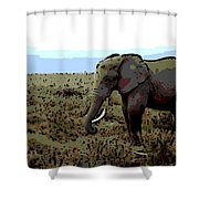 Lonely One Shower Curtain