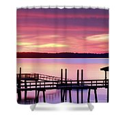 Long After Sunset Shower Curtain