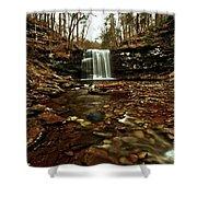 Long Canyon Waterfall Shower Curtain