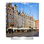 Long Market In Gdansk Shower Curtain