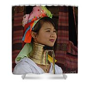 Long Necked Woman 3 Shower Curtain