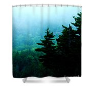 Long Pond Silhouettes Shower Curtain