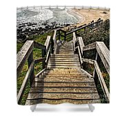 Long Stairway To Beach Shower Curtain