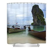 Long Tail Boats Thailand Shower Curtain