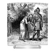 Longfellow: Hiawatha Shower Curtain