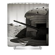 Longues-sur-mer German Battery Shower Curtain