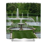 Longwood Fountains 3 Shower Curtain