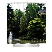 Longwood Garden Castle Shower Curtain