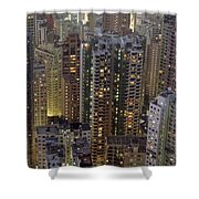 Looking Down On Crowded Residential Shower Curtain