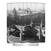 Looking Down On The Rondel Or Barbican Shower Curtain
