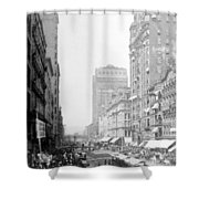 Looking Down State Street - Chicago - C  1897 Shower Curtain
