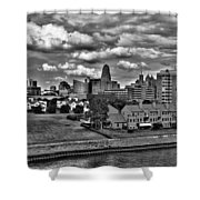 Looking Downtown From The Erie Basin Marina Shower Curtain