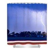 Looking East Lightning Strike Shower Curtain