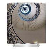 Looking Up At A Spiral Staircase Shower Curtain