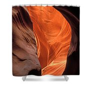 Looking Up At Antelope Canyon Shower Curtain
