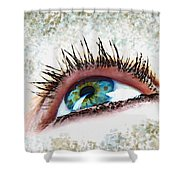 Looking Up Eye Art Shower Curtain