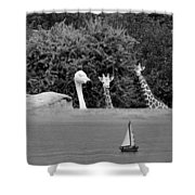 Lookouts Bw Shower Curtain