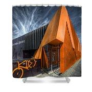L'orange Facade Shower Curtain