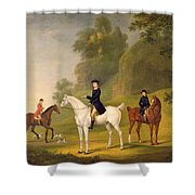 Lord Bulkeley And His Harriers Shower Curtain by Francis Sartorius