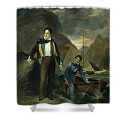 Lord Byron Shower Curtain by Granger