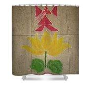 Lord Ganesh Rangoli Shower Curtain
