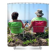 Lori And Chris 1 Shower Curtain