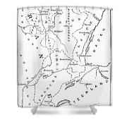Lorraine And Alsace: Map Shower Curtain