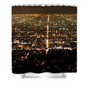 Los Angeles At Night 2 Shower Curtain