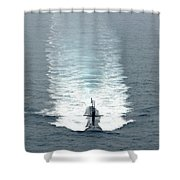 Los Angeles-class Fast Attack Submarine Shower Curtain