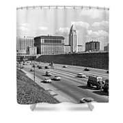 Los Angeles In The 1950s Shower Curtain
