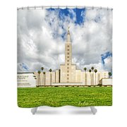 Los Angeles Temple Front Shower Curtain