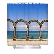 Los Arcos Amphitheater In Puerto Vallarta Shower Curtain by Elena Elisseeva