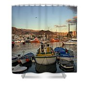 Los Cristianos Habour. Los Cristianos Shower Curtain