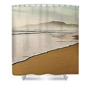 Los Lances Beach Along Costa De La Luz Shower Curtain
