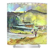 Los Olmos De Penafiel In Spain 01 Shower Curtain