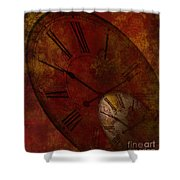 Losing Time Shower Curtain
