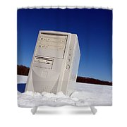 Lost Computer In Snow Shower Curtain