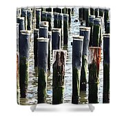 Lost Dock Shower Curtain