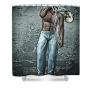 Lost His Mind Shower Curtain