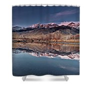 Lost River Range Winter Reflection Shower Curtain