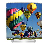 Lots Of Balloons Shower Curtain