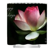 Lotus Flower Holiday Card Shower Curtain