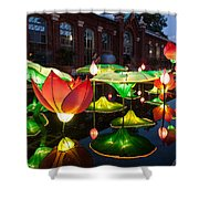 Lotus Flower Shower Curtain by Semmick Photo