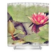 Lotus Flower12 Shower Curtain