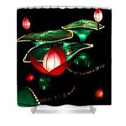 Lotus Lanterns 4 Shower Curtain
