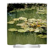 Lotus Pond 2 Shower Curtain