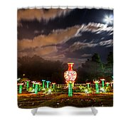 Lotus Ponds Shower Curtain