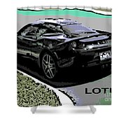 Lotus Position Shower Curtain
