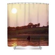 Lough Arrow, Co Sligo, Ireland, Angling Shower Curtain